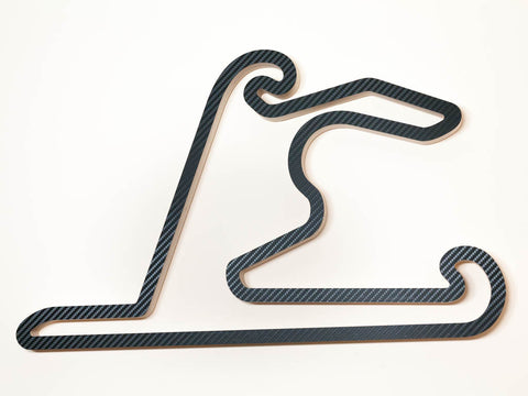 Shanghai International Circuit F1 WEC and WTCC Track Wooden Racing Course Art Sculpture Aerial View in a Carbon Finish
