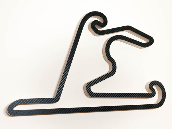 Shanghai International Circuit  F1 WEC and WTCC Track Racing Track Wall Art Sculpture in a Carbon Finish