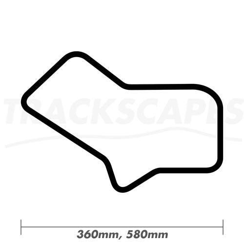 Silverstone Grand Prix Circuit 1952-1974 Wood Race Track Wall Art 360 and 580mm Model Dimensions