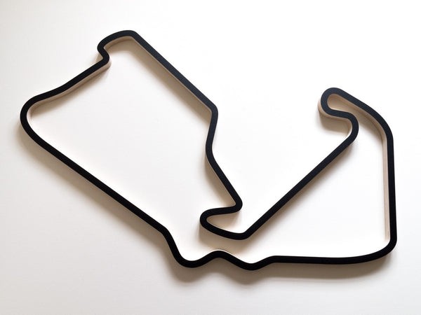 Silverstone GP Circuit Wall Sculpture 910mm Size in Black Finish