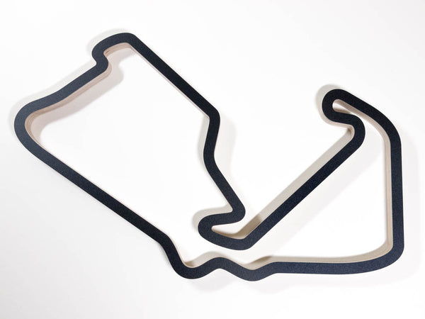 Silverstone Grand Prix Circuit F1 Wooden Racing Track Wall Art Sculpture Aerial View in a Black Finish