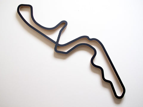 Suzuka International Racing Course 910mm Wall Art in Carbon
