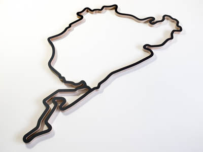 Nurburgring Wooden Racing Track Wall Art Model