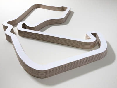 Silverstone GP Circuit Racing Wooden Track Wall Art Sculpture