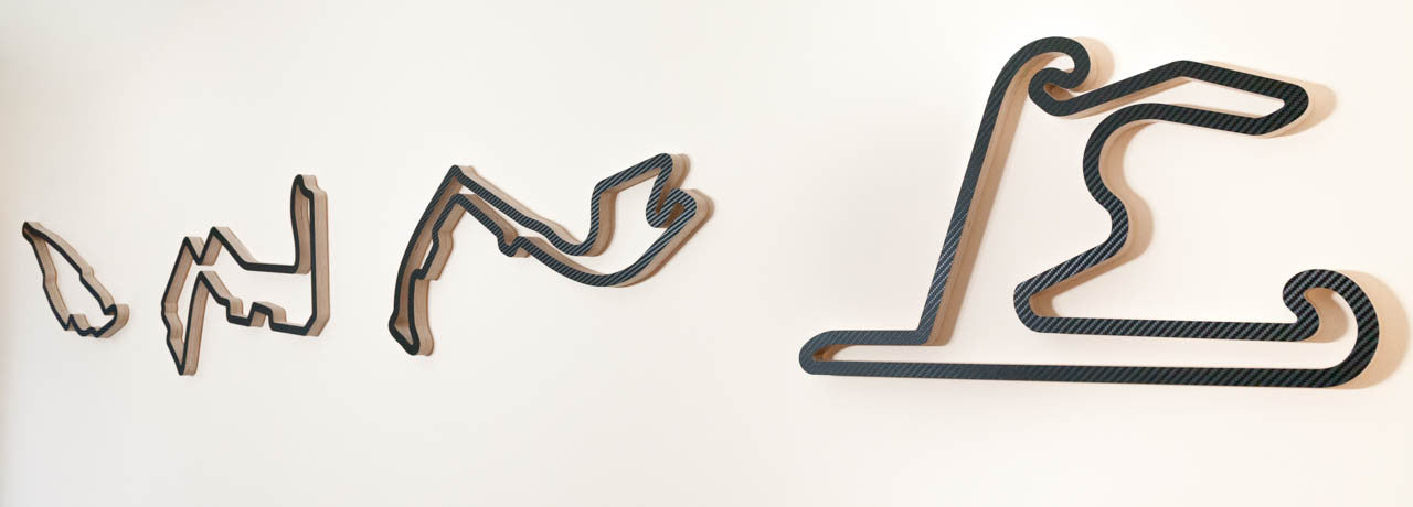 Trackscapes Wooden Racing Track Wall Art Sculpture Display