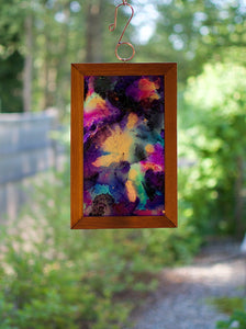 Alcohol Ink Original Art Suncatcher Hanging