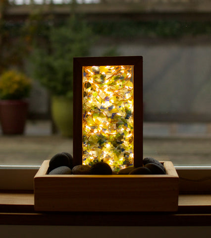 Accent Atmosphere Lamp Sea Glass Beach Stone Fairy Lights