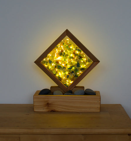 Lamp Accent Atmosphere Fairy Lights Sea Glass Beach Stones