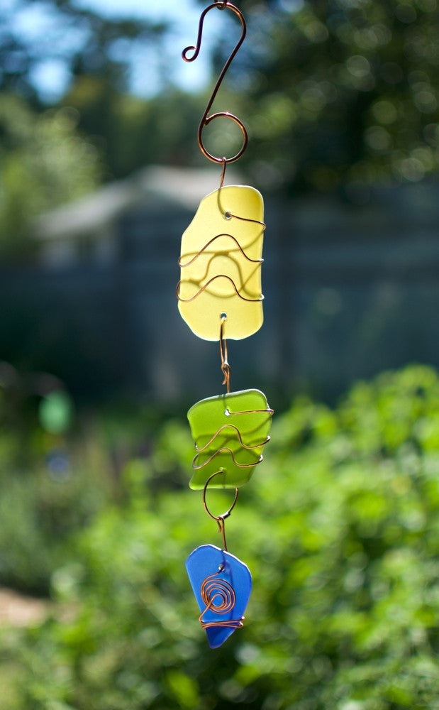 Suncatcher Beach Glass Copper Sun Catcher - Coast Chimes - 1