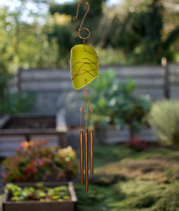 Sea Glass Wind Chime Suncatcher Brass Chimes
