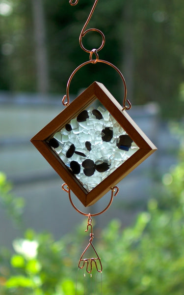 Windchime Glass Beach Stone With Brass Chimes - Coast Chimes - 2