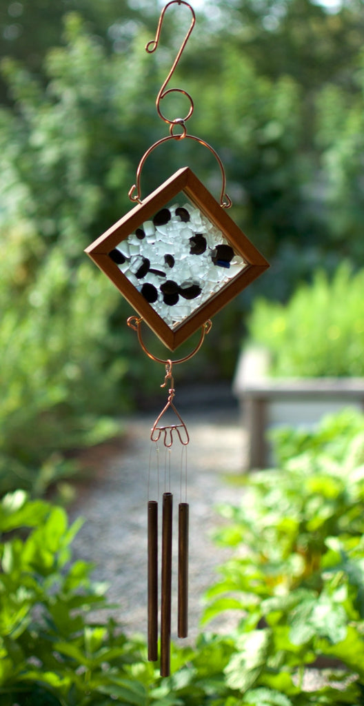 Windchime Glass Beach Stone With Brass Chimes - Coast Chimes - 1