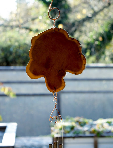 Wood Copper and Brass Wind Chime Handmade - Coast Chimes - 2