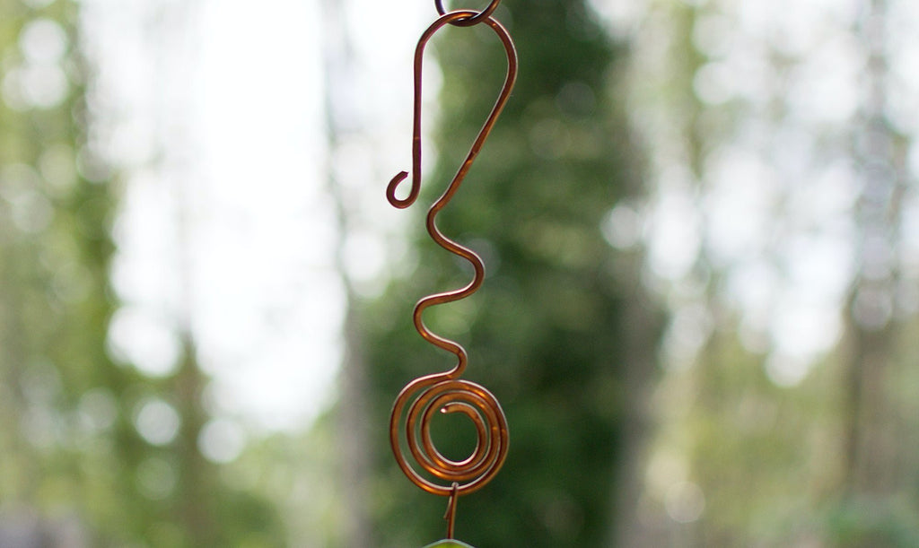 Wind Chime Natural Beach Stone Large Copper Chimes - Coast Chimes - 1
