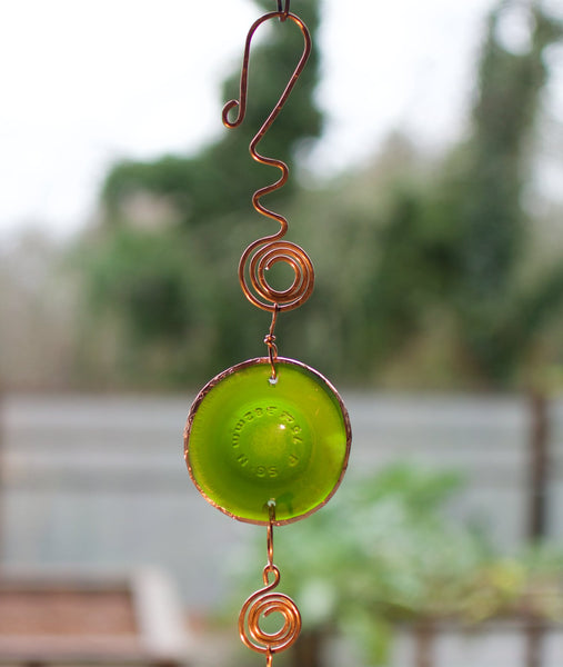Outdoor Glass Copper Handcrafted Windchime