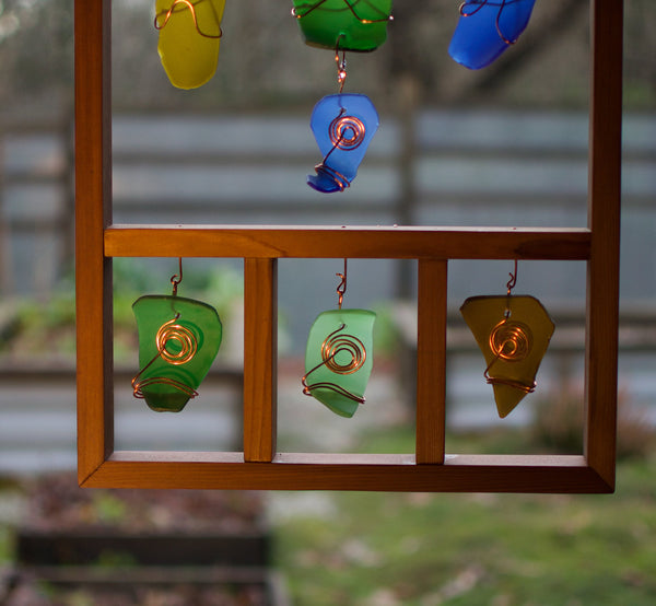 Suncatcher Sea Beach Glass Framed Contemporary Glass