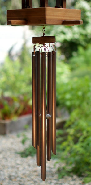 Bird Feeder Wind Chime Clear Cedar Copper Chimes - Coast Chimes - 3