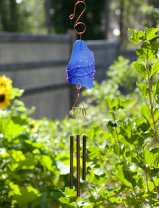 Outdoor Glass Copper Brass Handcrafted Wind Chime