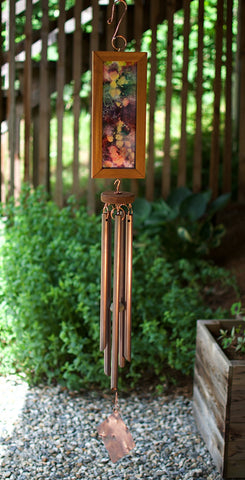 Original Art Colorful Handpainted Wind Chime Outdoor