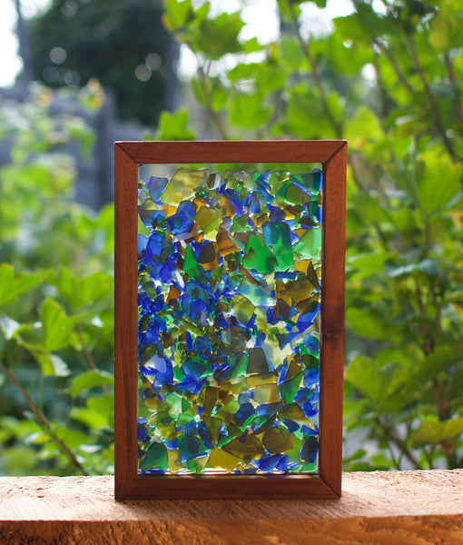 Suncatcher Freestanding Sea Glass Kaleidoscope Sun Catcher