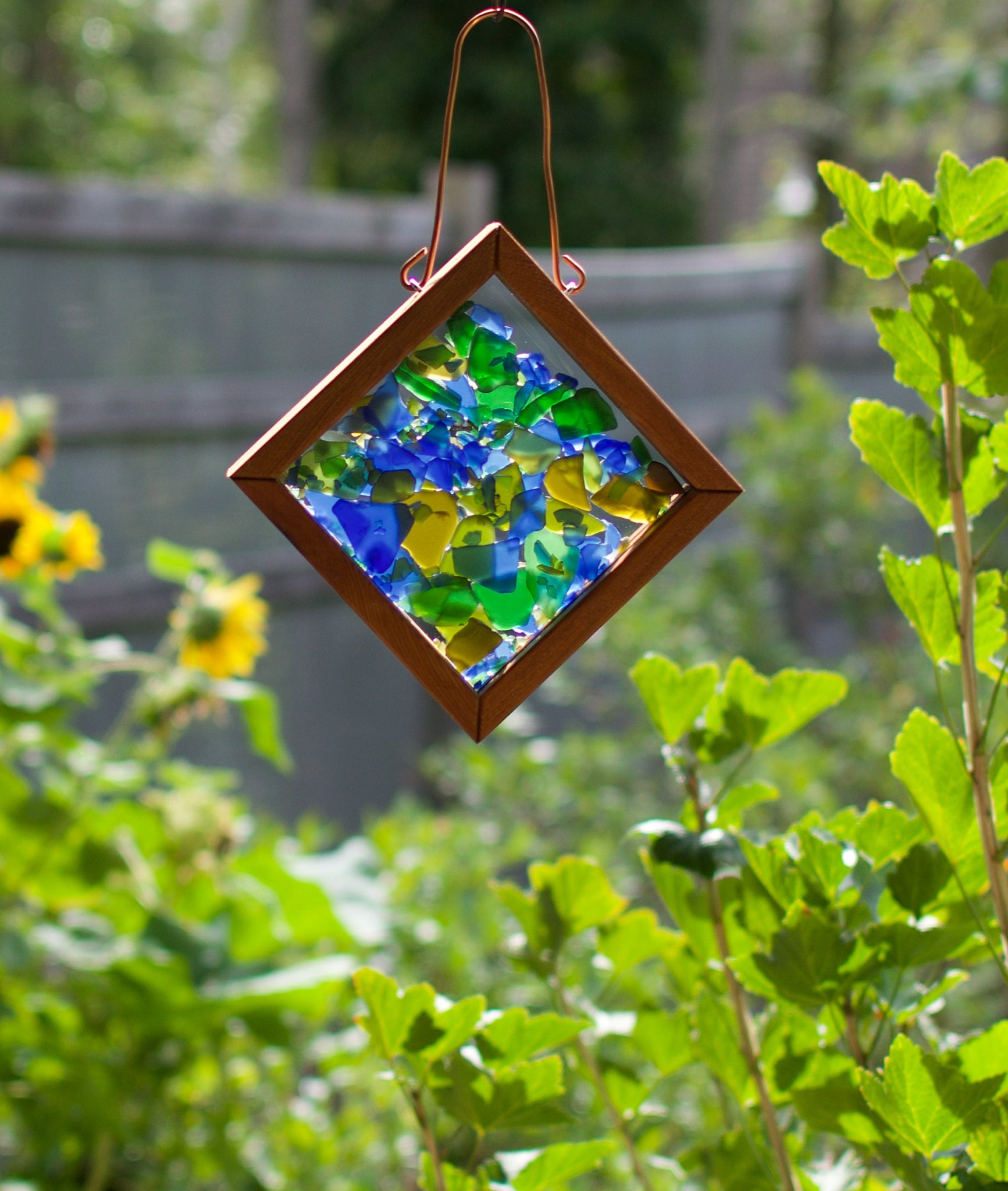 Suncatcher Kaleidoscope Sea Glass Handcrafted Sun Catcher