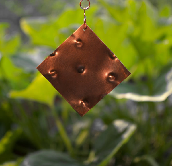 Wind Chime Outdoor Large Glass Copper Handcrafted