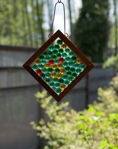 Kaleidoscope Glass Handcrafted Suncatcher