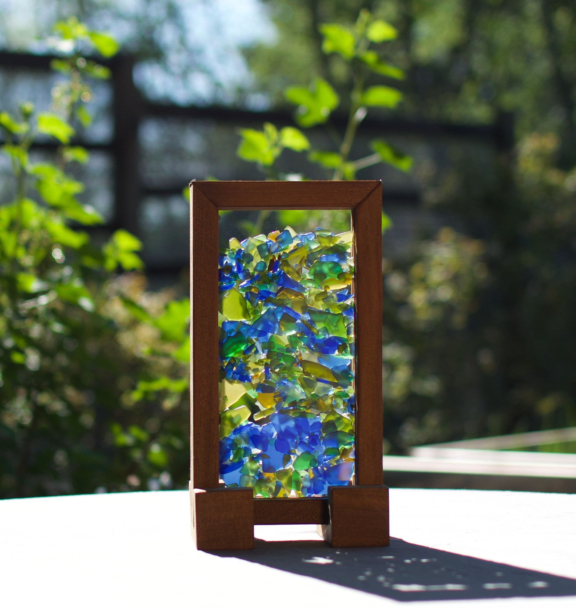 Sun Catcher Freestanding Kaleidoscope Sea Glass Suncatcher