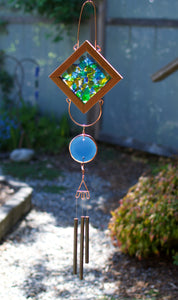 Kaleidoscope Sea Glass Outdoor Wind Chime