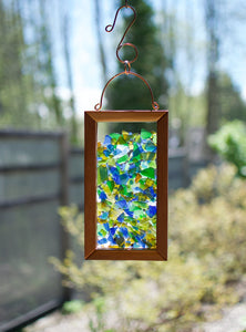 Suncatcher Kaleidoscope Sea Glass Copper Hanging