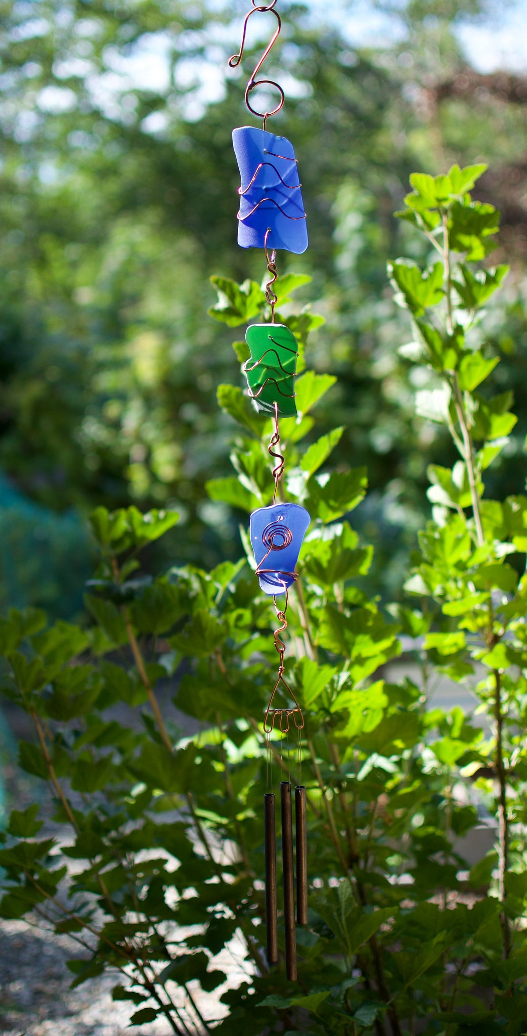 Wind Chime Stained Glass Outdoor Windchimes