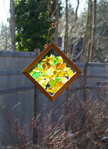Sun Catcher Sea Glass Warm Earth Colors Kaleidoscope