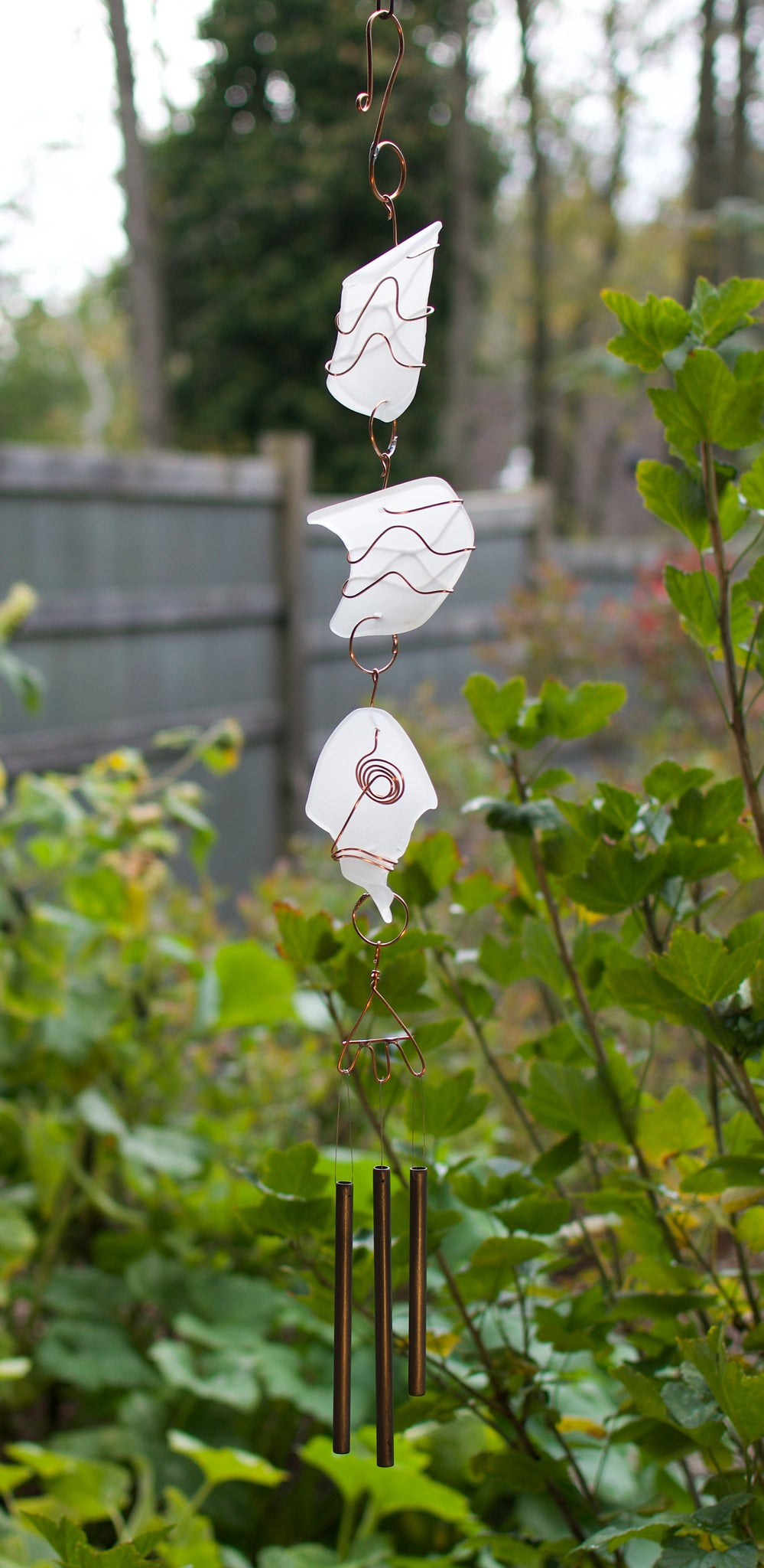 Outdoor Sea Glass Copper Wind Chime