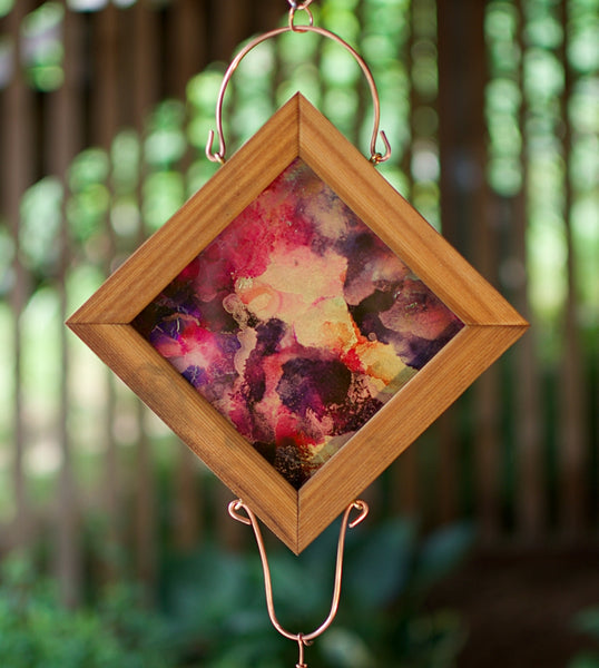 Original Art Bright Colors Suncatcher