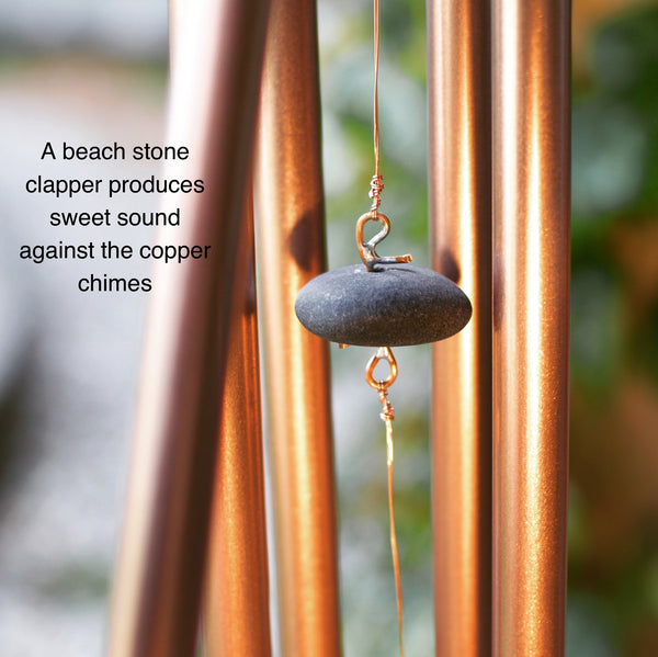 Wind Chime Kaleidoscope Sea Glass Copper Chimes
