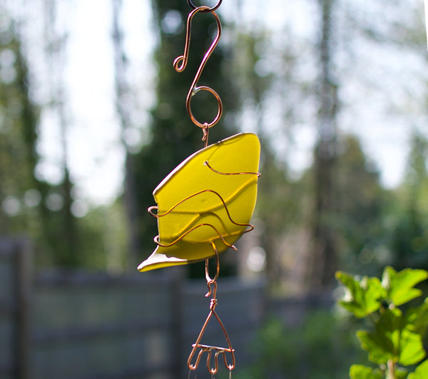 Wind Chime Sea Glass Copper Brass Windchimes