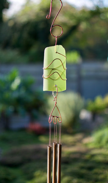 Outdoor Sea Glass Copper Brass Wind Chimes
