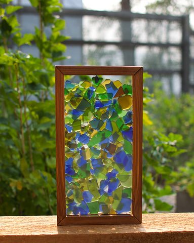 Suncatcher Freestanding Kaleidoscope Sea Glass Sun Catcher