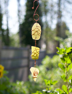 Sea Glass and Copper Sun Catcher