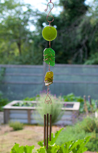 Windchime Sea Glass Handcrafted Outdoor Chimes