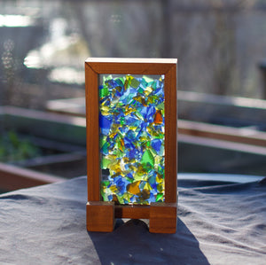 Freestanding Kaleidoscope Sea Glass Suncatcher