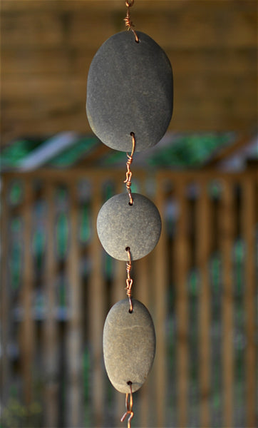 Windchime Beach Stone Large Copper Chimes Wind Chimes - Coast Chimes - 3