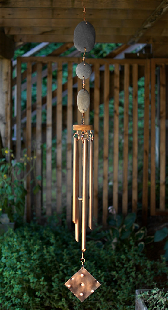 Windchime Beach Stone Large Copper Chimes Wind Chimes - Coast Chimes - 2