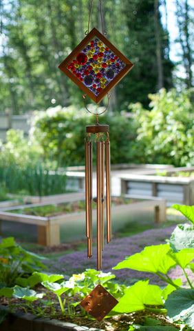 Wind Chime Outdoor Large Glass Copper Windchimes