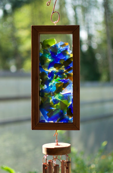 Kaleidoscope Wind Chime Mosaic Suncatcher Windchimes - Coast Chimes - 2
