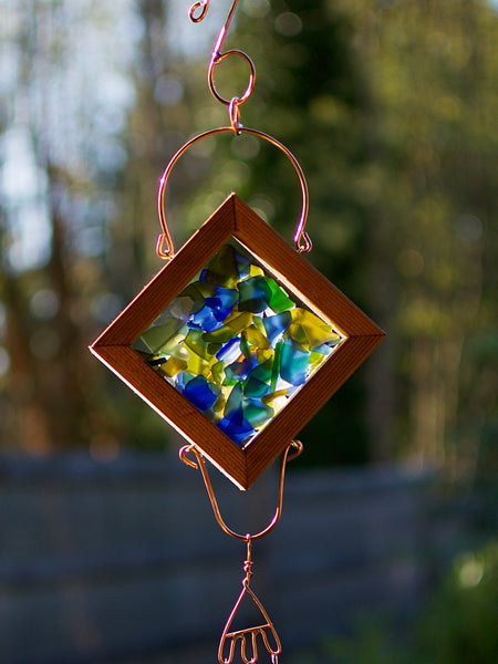 Wind Chime Handcrafted Colorful Glass Outdoor Windchimes