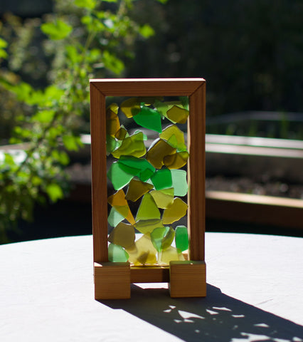 Suncatcher Earth Colours Sea Glass Sun Catcher