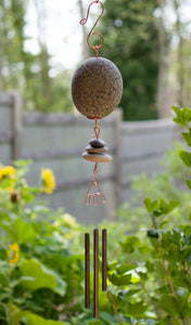 Wind Chime Zen Beach Stone Handcrafted
