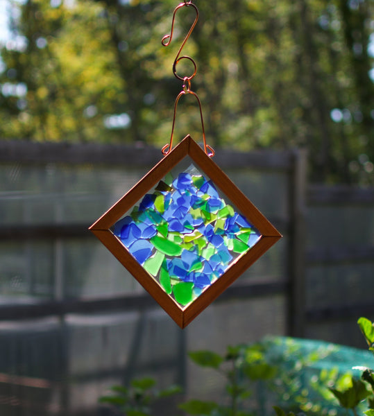 Sun Catcher Cool Soothing Blue Greens Sea Glass
