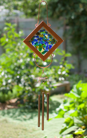 Wind Chime Kaleidoscope Sea Glass Outdoor Chime